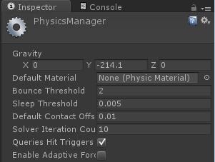 My Unity 5 pinball physics setup